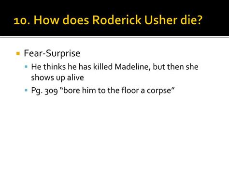 describe the room that roderick usher is staying in ppt the fall of the house of usher powerpoint presentation id 1840329