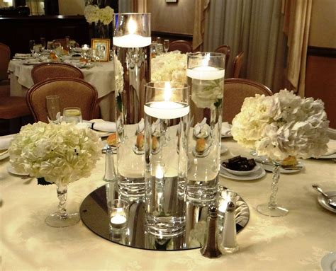 floating candle centerpiece winter events floating candles