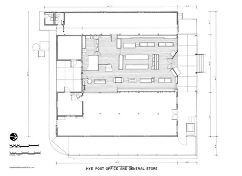 Post Office Floor Plan historic post office and general store in hye texas