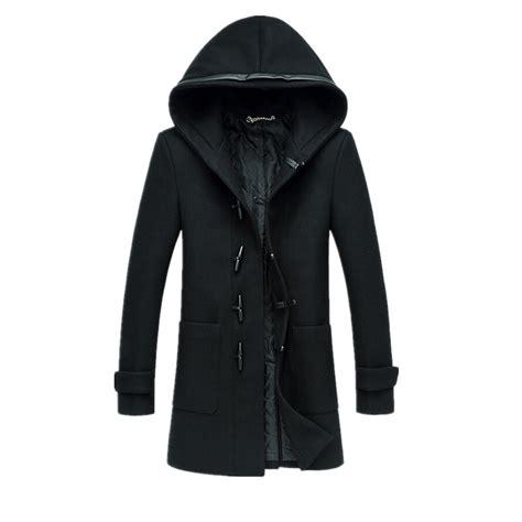 Pea Coat Winter Coat Trench Coat Jacket Coat Coat Pria Blc 8 new mens trench coat winter jacket single breasted slim fit warm pea coat hooded