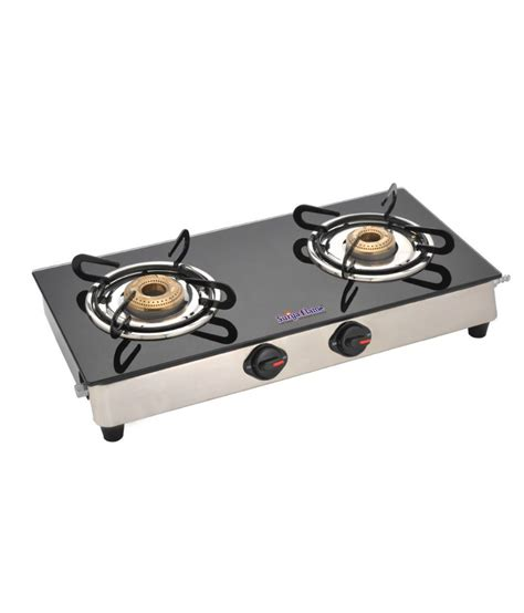 Two Burner Gas Cooktop Surya Classic 2 Burner Glass Cooktop Price In India