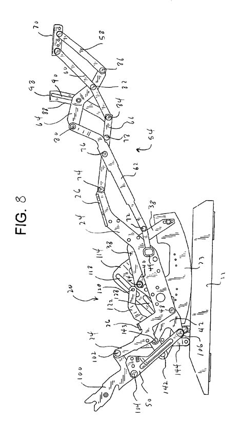 parts for lazy boy recliners patent us6945599 rocker recliner mechanism google