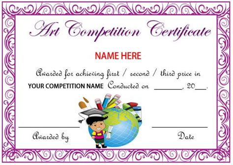 certificate design for drawing competition 13 admirable drawing competition certificates templates