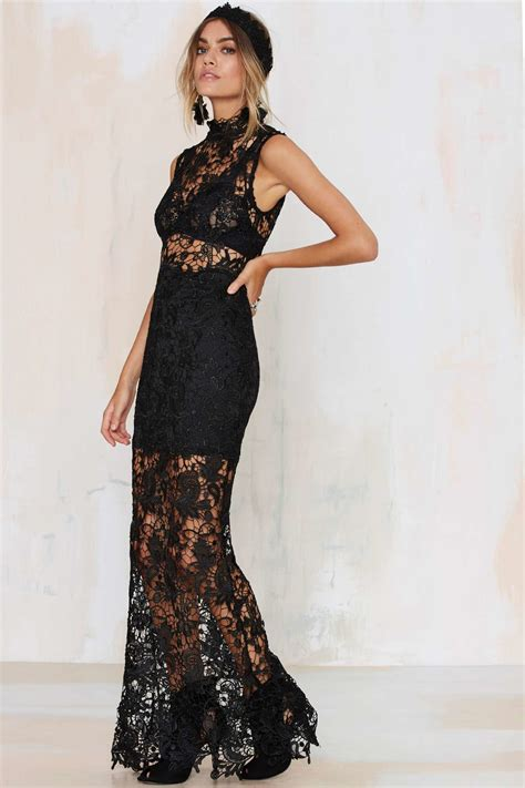 Lace Sheer Dress gal lace up your sheer dress black in black