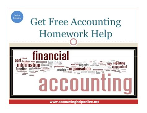 Homework Answers For Financial Accounting by Help With Managerial Accounting Homework