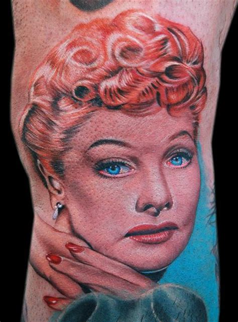 lucille ball tattoo cecil porter illustration tattoos color i
