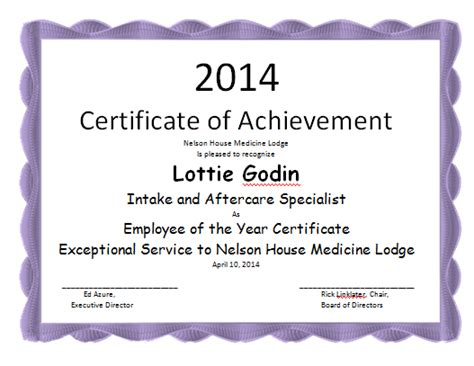 employee of the year certificate template microsoft word