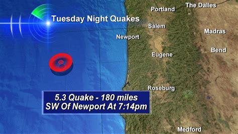earthquake oregon tuesday earthquakes beaverton and off the oregon coast
