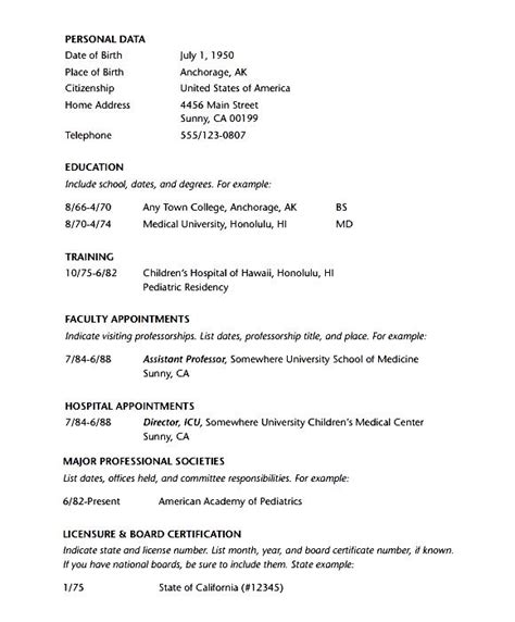 Doctor Resume Pdf by Doctor Resume Template Pdf Free Sles Exles