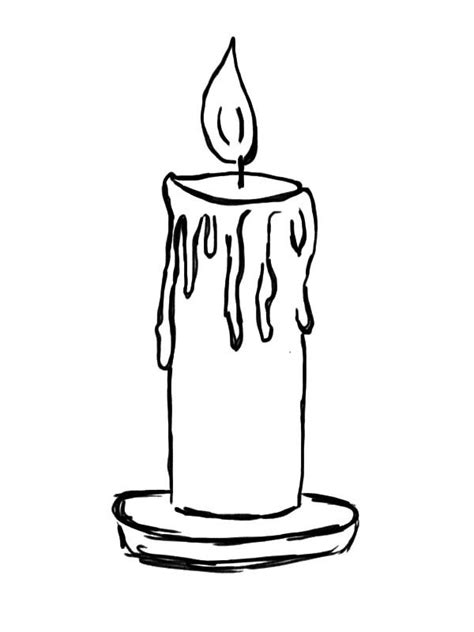 Candle Drawing Images
