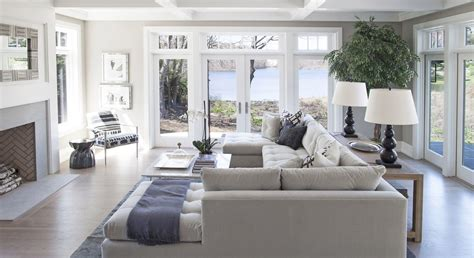 Windows Family Room Ideas Family Room Seating And Large Painless Windows Set On Either Side Of Painless Doors