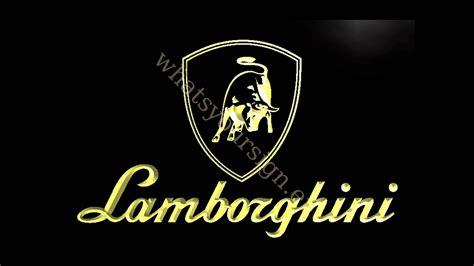 cartoon lamborghini logo lamborghini led neon light sign display youtube