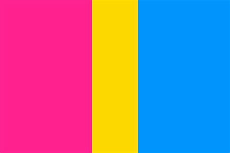 flag colors pansexual flag color palette