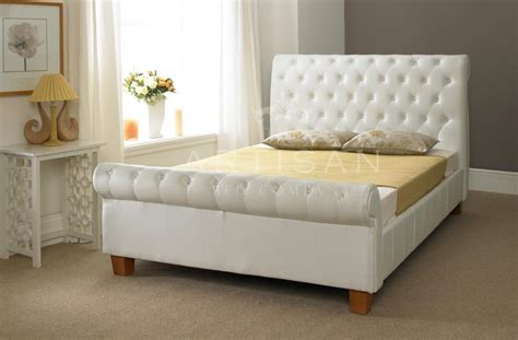 buy headboard online button bonded leather white bed 4ft6 5ft 6ft