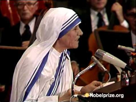 mother teresa nobel prize biography acceptance speech by mother teresa media player at