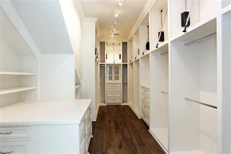 Narrow Closet by Walk In Closet Design Ideas