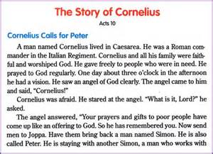 story cornelius kids korner biblewise