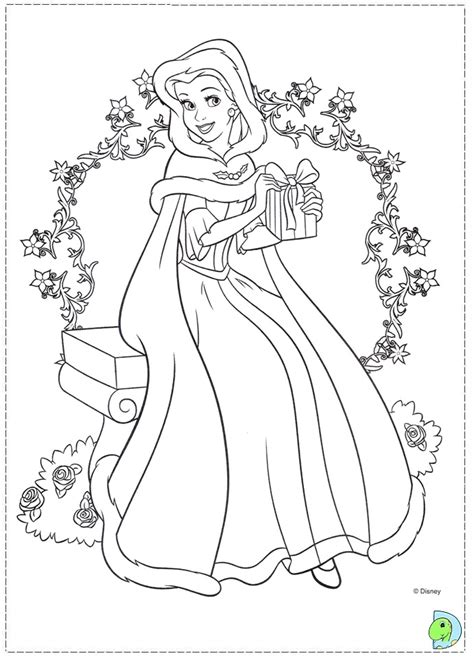 belle christmas coloring page the beauty and the beast coloring page dinokids org