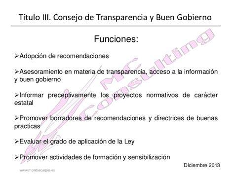ley 14 ministerio de gobierno ley 19 2013 de 9 de diciembre de transparencia acceso a