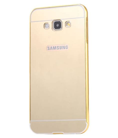 Bumpercase Mirror Samsung Galaxy J7 high quality mirror back cover with metal bumper for samsung galaxy j7 golden buy high