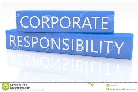 corporate responsibility corporate responsibility stock photo image 45491508