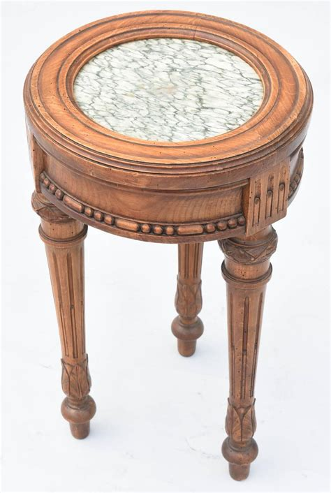 marble top accent table well carved walnut 19th century accent table with marble