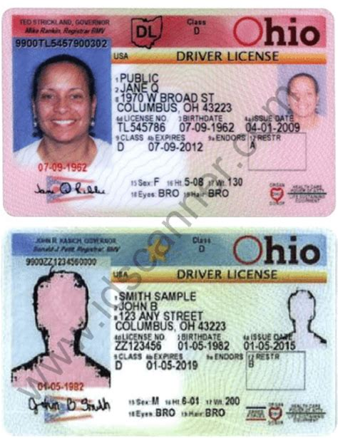 ohio drivers license template ohio updates driver license and state identification cards