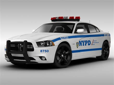 police charger dodge charger nypd police car 2013 3d model max obj 3ds