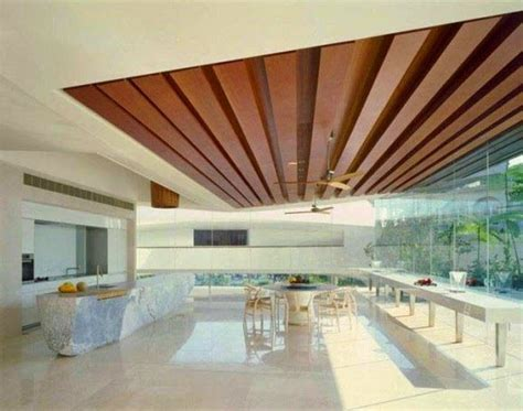 Wooden Ceiling Design 14 Gypsum False Ceiling Design With Wooden Decorations For