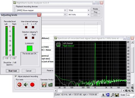 audio file format analyzer ตรวจสอบค ณภาพเส ยงด วย rightmark audio analyzer