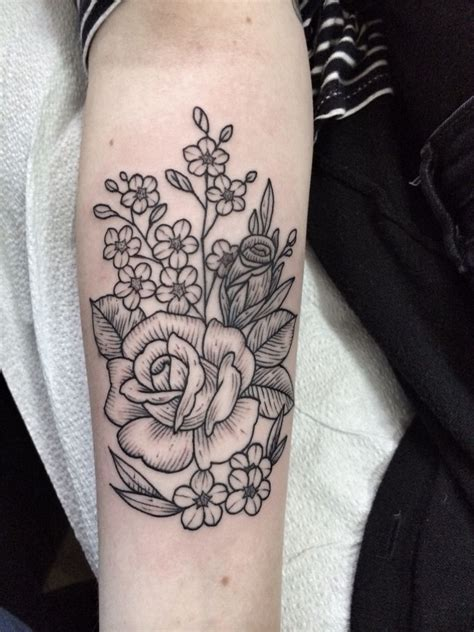 tattoo hand instagram roses and forget me note tattoo by jennifer lawes