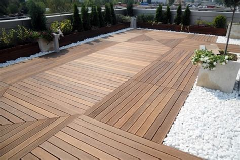 Bodenbelag Terrasse Holzoptik by Terrace With Teak Wood Flooring Modern Solution For Any