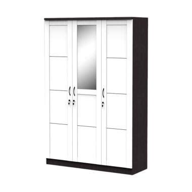 Lemari Pakaian Warna Hitam jual best furniture simply lemari pakaian 3 pintu putih