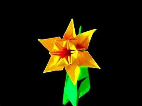 Origami Daffodil - daffodils origami and how to make an on