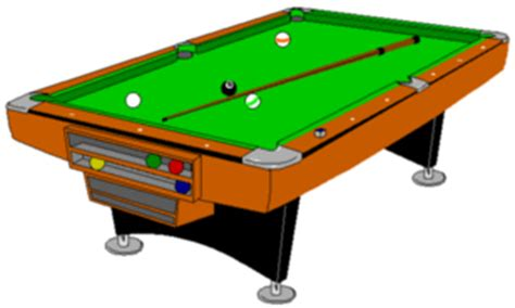 Free Pool Table by Pool Table Clipart