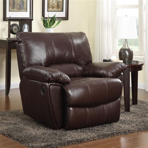 leather power recliner chair coaster 600283p brown leather power reclining chair