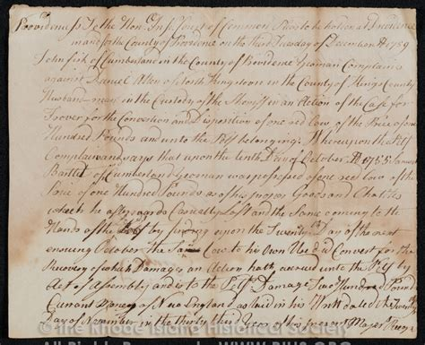 Ri Court Records Colonial Justice Early Rhode Island Court Records Project Rhode Island Historical