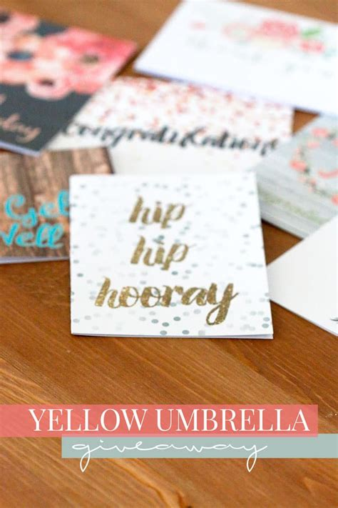 Stationery Giveaway - yellow umbrella stationery giveaway closed hello nature