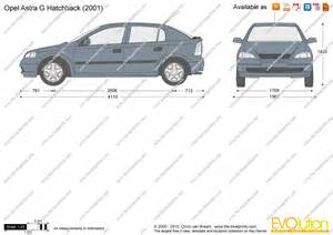 Opel Astra G Dimensions The Blueprints Vector Drawing Opel Astra G Hatchback