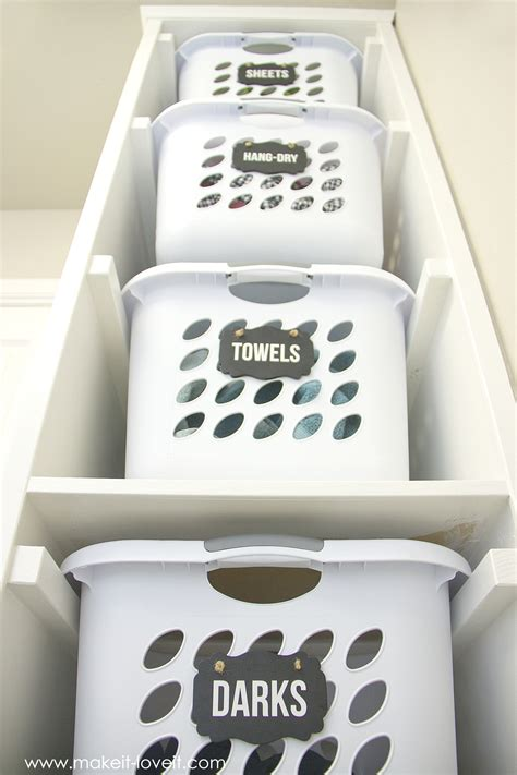 Diy Built In Shelves diy laundry basket organizer built in make it and