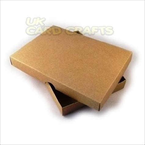 Boxes For Handmade Cards - 4 x brown kraft a5 boxes for handmade greeting cards