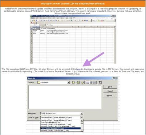 Https Mba Csumb Edu Registration Portal by How Do I Upload My Student Email Addresses