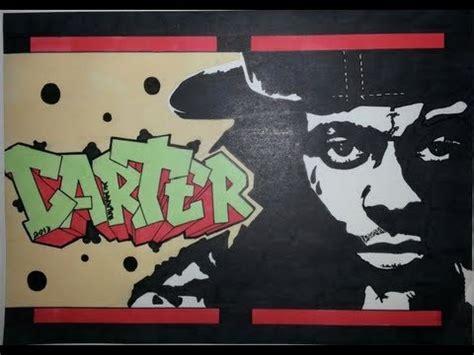 lil wayne graffiti letters stencil drawing carter