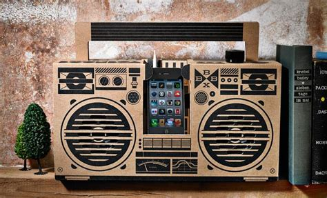 Fret Flat Cardboard Speakers by A Flat Pack Boombox For Your Smartphone Made From