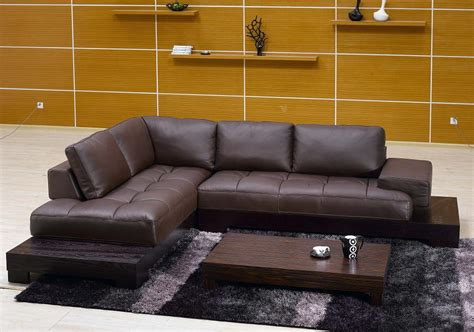 Brown Sectional Sofas Plushemisphere Brown Leather Sectional Sofas