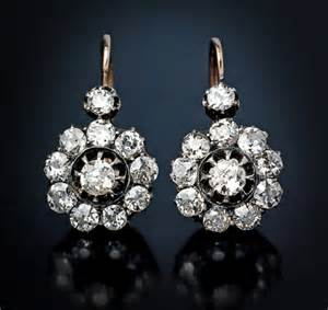 antique and vintage jewelry sale russian cluster earrings