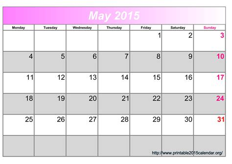 printable monthly calendar canada 2015 image gallery may 2015 calendar