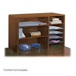 Top Of Desk Organizer by Safco Products 29 Quot W Compact Desk Top Organizer Mahogany