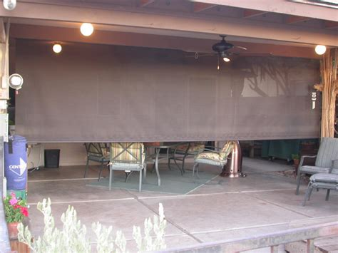 roll down awnings roll down patio shades aaa sun control