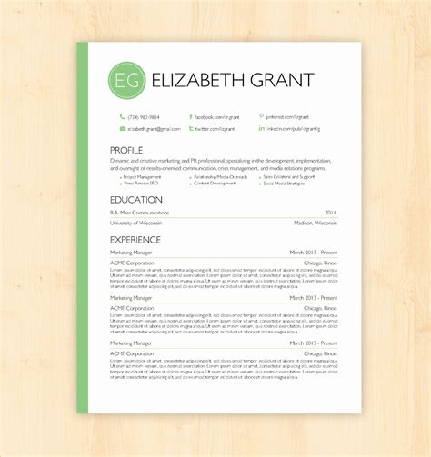 14 awesome docs resume template free resume